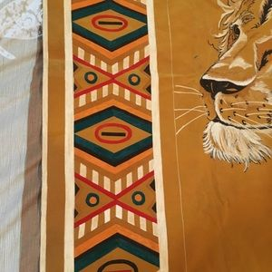 Custom Accents - Gorgeous Lion Head Painted Tapestry